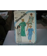Simplicity 6174 Misses Pajamas & Nightgown in 2 Lengths Pattern - Size L... - $10.88