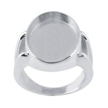 Sterling Silver Ring Split Shank 18x13mm Oval Bezel Mounting WHOLESALE D... - $29.99