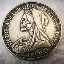 New Rare New Hobo Nickel 1895 Canada British Skull Skeleton Casted Queen... - $11.99