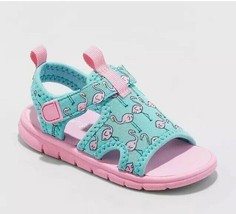 NWT~ Cat & Jack Baby Girls Flamingo Beach Sandals Water Sport Slide Shoe... - $12.34