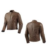 QASTAN Men's New Latest Brown Motorbike CE Protectors Leather Jacket QMMJ25 - $159.20+
