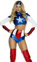 Forplay Pretty Patriot Sexy American Kapitän Flag Erwachsene Halloween K... - $83.27