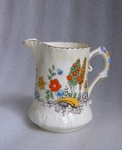Antique Figural Flower Creamer Royal Stafford Cream Milk Jug Hand Painted '50! - $19.79