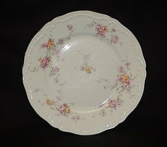 """Vintage Helene by Haviland 7-1/2"""" Salad Plate Yellow & Pink Roses New Yo... - $14.84"""