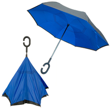 Double Layer Windproof Reverse Folding Rain Umbrella with Hands Free C-H... - $27.99