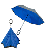 Double Layer Windproof Reverse Folding Rain Umbrella with Hands Free C-H... - £17.80 GBP