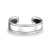 Women's Band Style Adjustable Toe Ring 14k White Gold Plated 925 Sterling Silver - $9.99