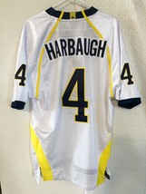 Adidas Authentic NCAA Jersey Michigan Wolverines Jim Harbaugh White sz 52 - $79.19