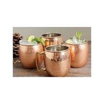 RV Hammered Copper Moscow Mule Mug with Brass Handle, 18oz, Pack of 4 - $38.61