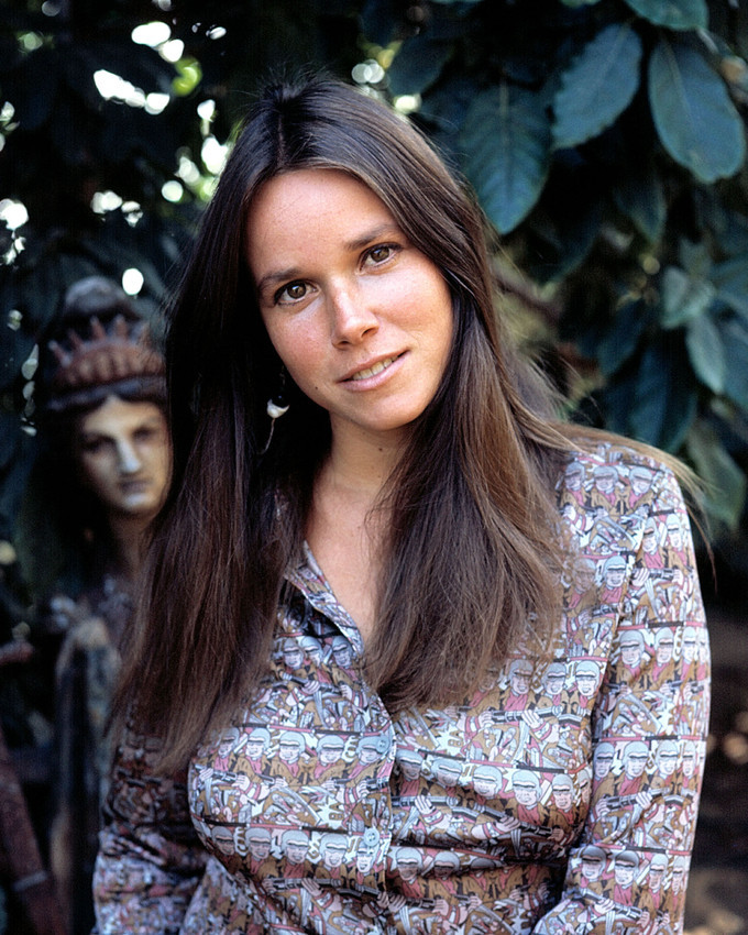 Primary image for Barbara Hershey 1970's Outdoor Pose Color 16x20 Canvas Giclee