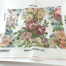 Ehrman Retired Pink Chintz Tapestry CANVAS ONLY  Susanna Lisle 1989  - $69.29
