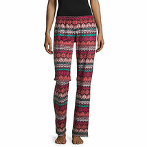 NWT $30 FLIRTITUDE Women fairisle Fleece Sleep lounge Pants Pajama Botto... - $14.84