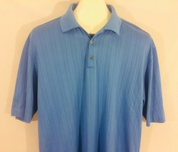 Tiger Woods Collection Nike DriFit Golf Polo Shirt Mens Large Blue - $27.71