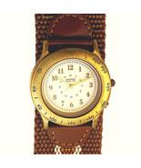 Arizona Jean 12/24 Hour Fossil Watch Button Light, 32mm Ballistic Nylon ... - $58.26