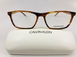 New Calvin Klein CK6009 203 Striped Brown   Eyeglasses 55mm with Case - $62.32