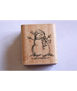 Stampin Up! Snowman Mounted Rubber Stamp 2002 - $12.99