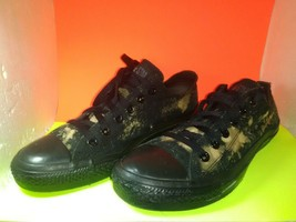 CONVERSE CHUCK TAYLOR ALL STARS BLACK MULTI CANVAS LOW SNEAKERS M5039 - $23.06