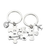 Birdgot Puzzle Keychain Set Long Distance Relationships Gifts (Silver) - $23.37