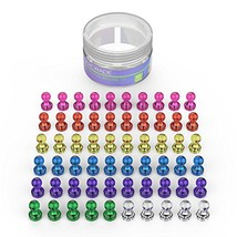 60 Pack Push Pin Refrigerator Magnets Assorted Color Strong Magnetic NEW - $21.21