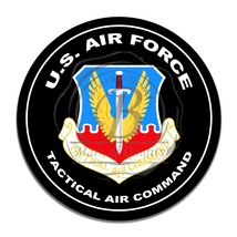 United States Air Force Tactical Air Command Circle Round Aluminum Sign - $16.09