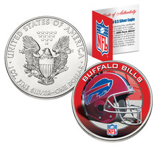 BUFFALO BILLS 1 Oz American Silver Eagle $1 US Coin Colorized NFL LICENSED - $49.45