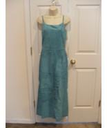 NWT $299 NEWPORT NEWS AQUA soft suede FULLY LINED long DRESS SLEEVELESS ... - $158.39