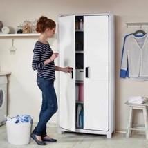 Storage Plastic Cabinet Case Indoor Tall Laundry Garage Home Shelf Shelv... - $178.19