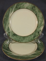 Mikasa TRAVERTINE GREEN L2112 Lot of 2 Salad Plates Fine China Design by... - $15.26