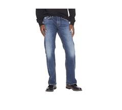 Mens Silver (Indigo) Zac Straight Jeans Reg(30) - $89.00