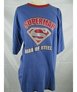 Vtg 2004 Jerry Leigh Superman Man Of Steel Men's Long Sleeve T Shirt Siz... - $19.78