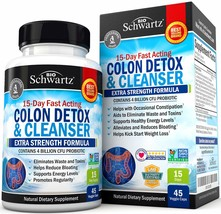 Colon Cleanser & Detox for Weight Loss. 15 Day Extra Strength Detox Clea... - $23.73