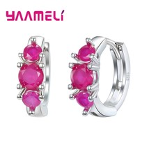 Top Brand Fashion 925 Sterling Silver Round Small Hoop Earrings for Wome... - $7.96