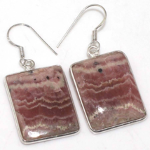 Special Sale, Pink Rhodonite Earrings, 925 Silver, Light Pink, One of a ... - $18.40