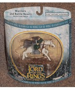 Lord of the Rings Armies of Middle Earth Arwen and Frodo on Horseback Fi... - $34.99