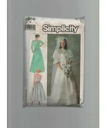 Simplicity Dress Patterns 7936 - Misses' Lined Bridal Gown, Jacket & Dress. - $2.21
