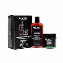 Brickell Men's, Smooth Brushless Shave Routine, Shave Cream and Aftershave, Natu image 1