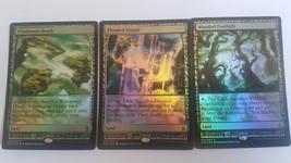 Mtg Magic PROXY FOIL 10X Fetch Land Zendikar Expeditions 10 Cards Commander FOI image 4