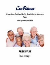 """300-17x24"""" CHEAP Extra Absorbent Quilted ConFidence 4-Ply Incontinence Pads - $34.95"""