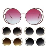 Double Metal Rim Luxury Round Circle Lens Chic Fashion Sunglasses - $12.95