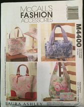McCall's M4400 LAURA ASHLEY Fashion Handbags, Tote Bags Lined and with Pockets - $5.00