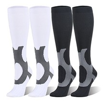 Compression Socks For Women and Men - 20-25mmHg- 4 Pairs BEST Stockings ... - $29.63