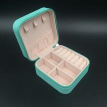 SHEVOSHOP Small Jewelry Box PU Leather Mini Portable Travel Case with Zi... - $15.90
