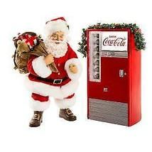Battery-Operated Santa with Coke Machine, 2-Piece Set w - $109.99