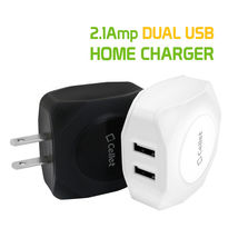 Cellet Universal 10 Watt / 2.1 Amp Dual USB Port Travel Home Wall Charger image 3