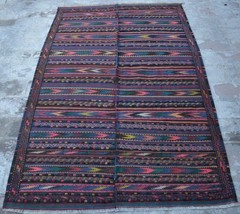 HR 3'10 x 6'2 Vintage Afghan nomadic Fine Kilim Tribal Turkish wool Anti... - $359.10
