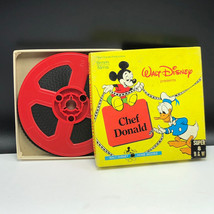 Walt Disney Super 8 Home Movie Box Silent 8mm B&W 1960s Chef Donald Duck Mickey - $34.65