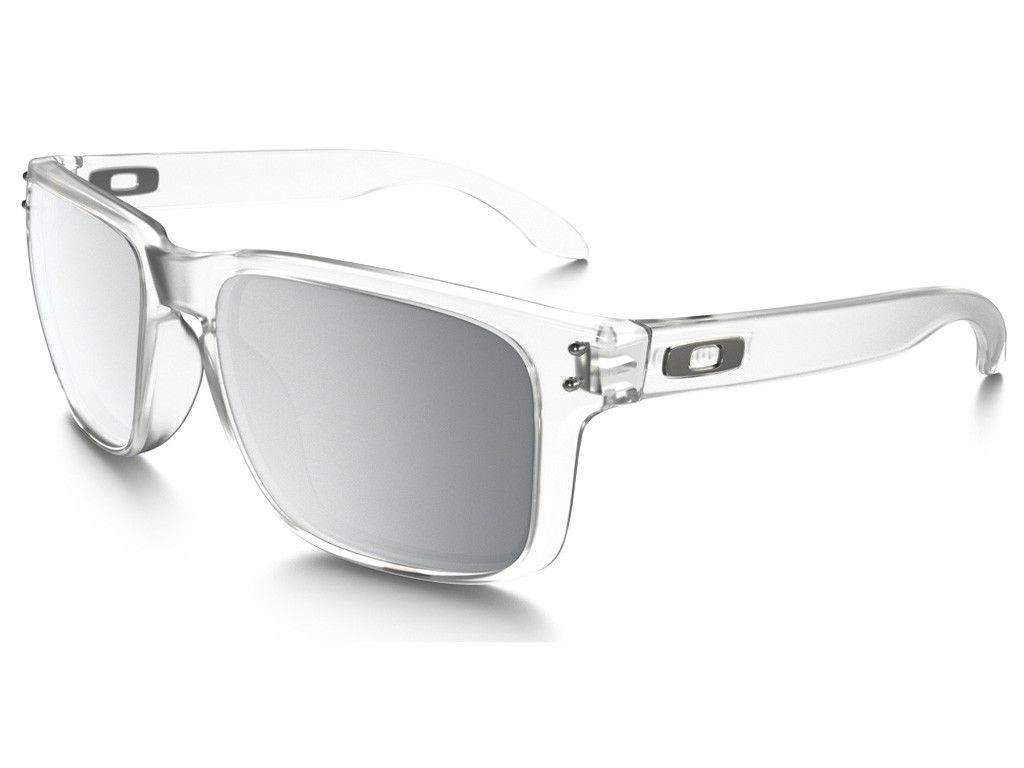 Neuf Oakley Urban Jungle Collection Holbrook Mat Clair avec / Chrome Iridium