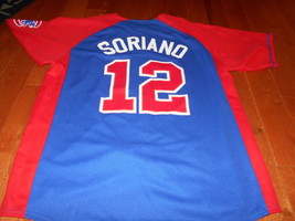 Chicago Cubs Alfonso Soriano Blue & Red Baseball Mlb Road Large L Jersey Officia - $39.59