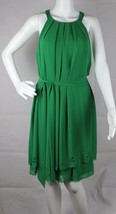 Jessica Simpson women's dress sleeveless green polyester size 10 - $21.99