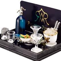 Dollhouse Bar Mixing Set 1.740/5 Ice 4 Glasses Siphon Reutter Porcelain ... - $37.76